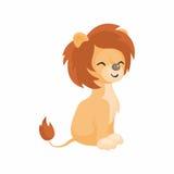 Милый африканский лев Стоковое Изображение RF