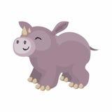 Милый африканский носорог Стоковое Фото