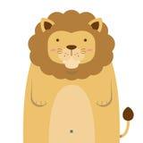 Милый большой тучный лев Стоковая Фотография RF