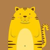 Милый большой тучный тигр Стоковые Фото