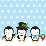 милый вектор пингвина иллюстрации Стоковое Изображение