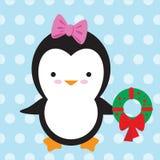 милый вектор пингвина иллюстрации Стоковые Фотографии RF