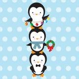 милый вектор пингвина иллюстрации Стоковое Фото