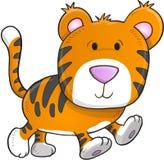 милый вектор тигра иллюстрация вектора