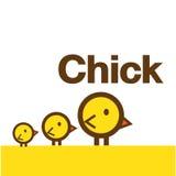 Милый вектор цыпленока Иллюстрация вектора