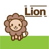 милый вектор льва Бесплатная Иллюстрация