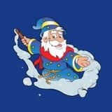 Милый волшебник шаржа Стоковое фото RF