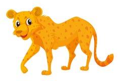 Милый гепард на белой предпосылке бесплатная иллюстрация