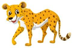 Милый гепард на белой предпосылке иллюстрация штока