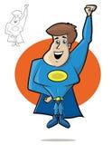 милый герой супер Стоковые Изображения