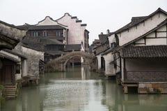 Милый городок воды стоковые изображения rf