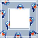 Милый голубой зайчик с большими ушами Стоковые Фотографии RF