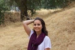Милый девочка-подросток в парке Стоковое фото RF