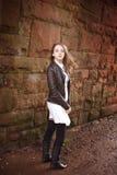 Милый девочка-подросток поворачивая вокруг быстро Стоковое Изображение RF