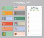 Милый ежедневный календарь и сделать шаблон списка Стоковая Фотография
