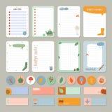 Милый ежедневный календарь и сделать шаблон списка Стоковое Изображение