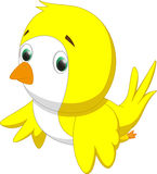 Милый желтый шарж птицы Стоковое Фото