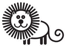 Милый животный лев - иллюстрация Стоковые Изображения