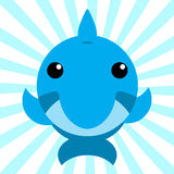 Милый животный дельфин младенца Стоковое Изображение RF