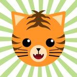 Милый животный тигр младенца Стоковые Изображения RF