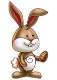 Милый зайчик держа пасхальное яйцо 3 Стоковая Фотография