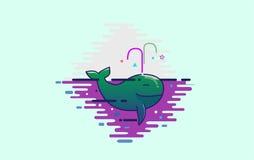 Милый зеленый кит Стоковое Фото