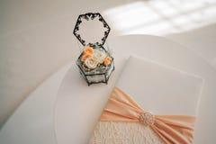 Милый знак для приема по случаю бракосочетания Стоковые Фотографии RF