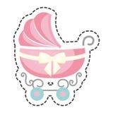 Милый значок младенца тележки Стоковое Изображение RF