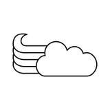 Милый значок облака фантазии бесплатная иллюстрация