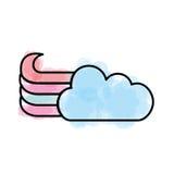 Милый значок облака фантазии иллюстрация штока