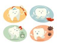 Милый зуб в различных ситуациях Стоковое фото RF