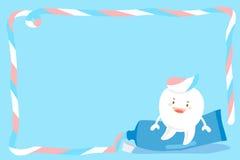 Милый зуб шаржа бесплатная иллюстрация