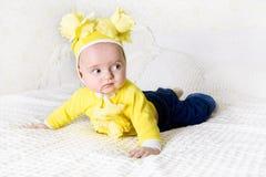 Милый играть младенца Стоковое Изображение RF