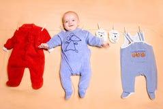 Милый играть младенца Стоковое Изображение