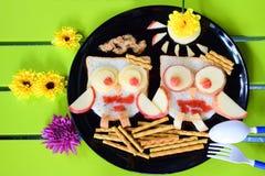 Милый дизайн сыча для еды Стоковая Фотография