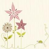Милый дизайн цветков Стоковое Изображение RF