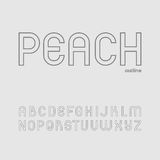 Милый и простой шрифт Sans Serif в uppercase Стоковое фото RF