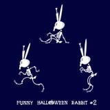 Милый и смешной каркасный кролик в различных представлениях: деятельность, танец, йога, гимнастическая Тип шаржа также вектор илл Стоковые Изображения RF