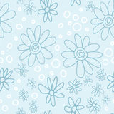 Милый и ультрамодный цветочный узор с тюльпанами, цветками мака и ягодами Стоковые Фотографии RF
