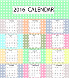 Милый календарь Стоковая Фотография