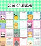 Милый календарь Стоковое Фото