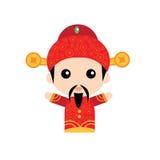 Милый китайский бог богатства Стоковая Фотография