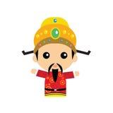 Милый китайский бог богатства Стоковое фото RF