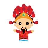 Милый китайский бог богатства Стоковые Фотографии RF