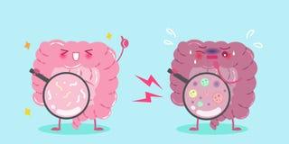 Милый кишечник шаржа Стоковое Изображение