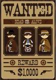 Милый ковбой изгоняет плакат из обществ Стоковые Фотографии RF