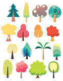 Милый комплект дерева Стоковое Изображение