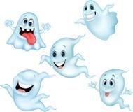 Милый комплект собрания шаржа призрака иллюстрация вектора
