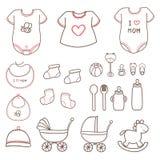 Милый комплект элементов младенца Стоковое фото RF