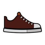 Милый коричневый шарж ботинка иллюстрация штока
